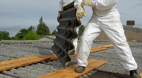 Asbestos removal stock